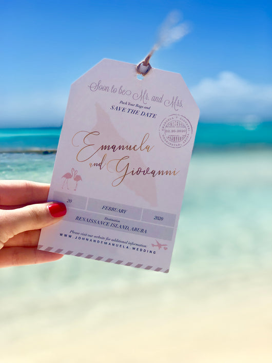 Destination Wedding Luggage Tag Save The Dates