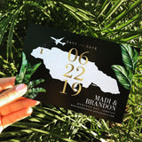 Tropical Palm Bold, Jamaica, Destination Wedding, Save the Dates // DIGITAL