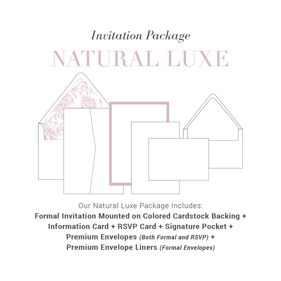 Natural Luxe Wedding Package