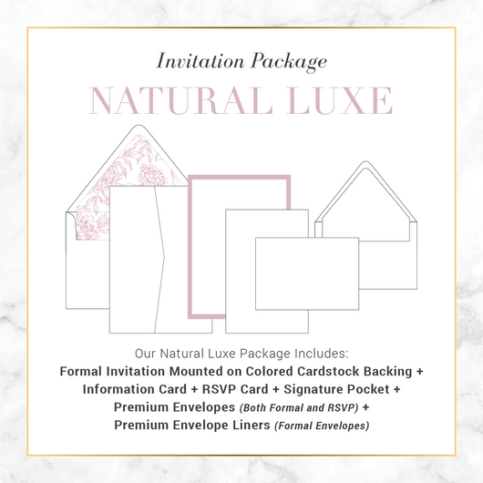 Natural Luxe Invitation Suite Package Deposit