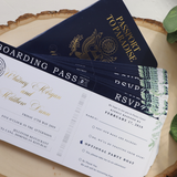 Passport Destination Wedding Invitation // DEPOSIT