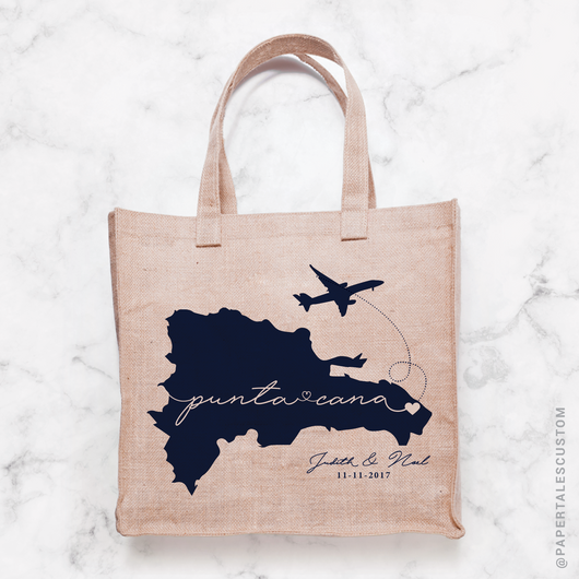 Script, Dominican Republic, Tote Bag Decal Design // DIGITAL