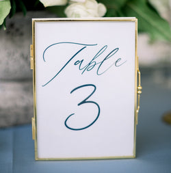 Classic Numerical Table Numbers // DIGITAL