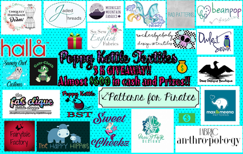 Win free fabric and cash!! Win Patterns!