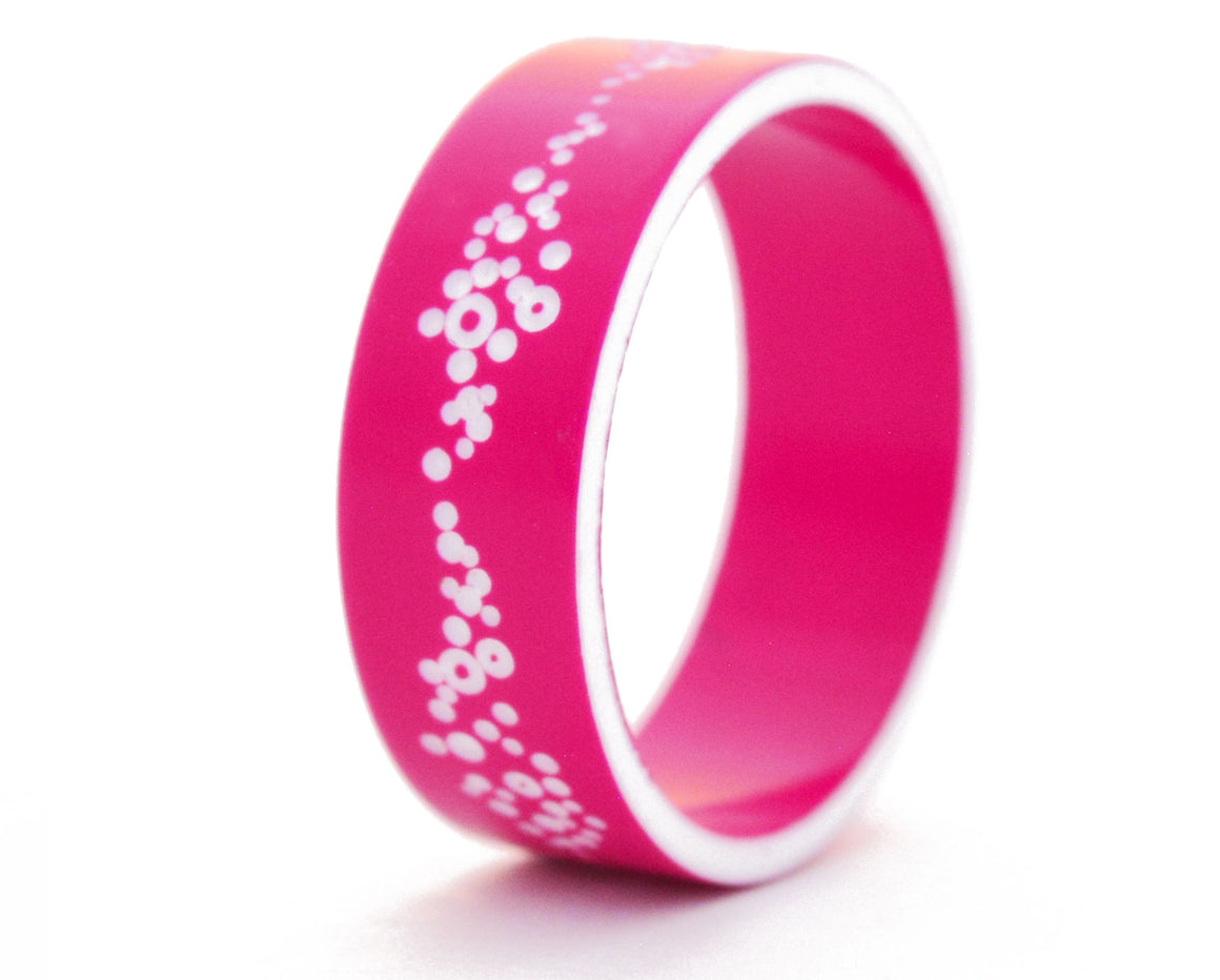 bague mood buzz interchangeable rose