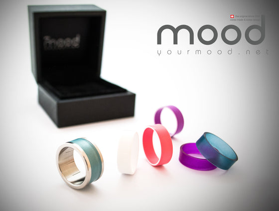 ::: BEST OF :::: bague personnalisable mood SMALL  + 6 addons collection colors 2015