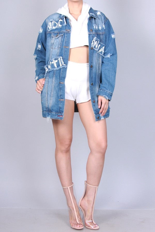 I Do What You Want Denim Jacket