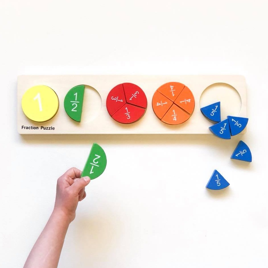 Fraction Wooden Puzzle