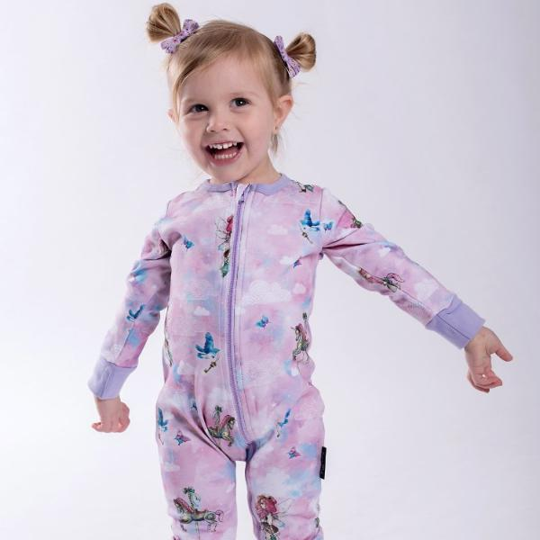 Unicorn & Fairy 2 Way Zip Romper ORGANIC