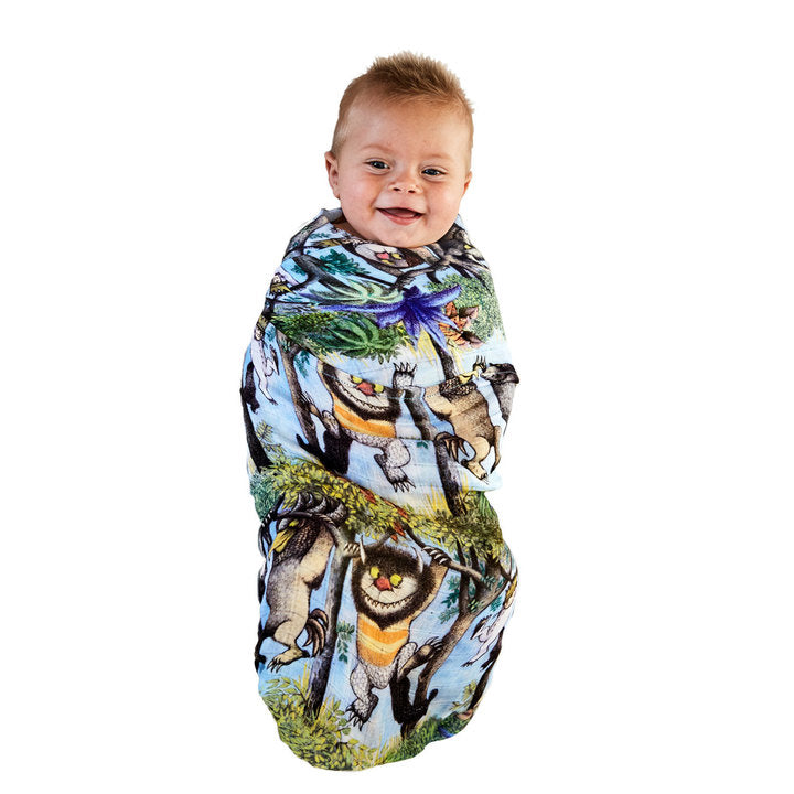 Kip & Co Bamboo Swaddle - Hanging Wild - Where The Wild Things Are