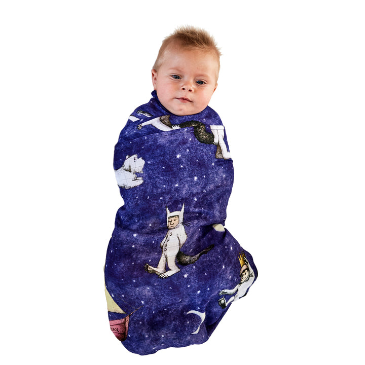 Kip & Co Bamboo Baby Swaddle - Max Night Sky - Where The Wild Things Are