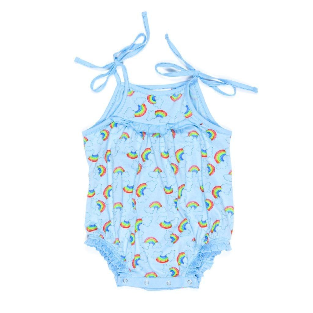 Little Wings Rainbow Romper ORGANIC Cotton * Last One- 3 Months