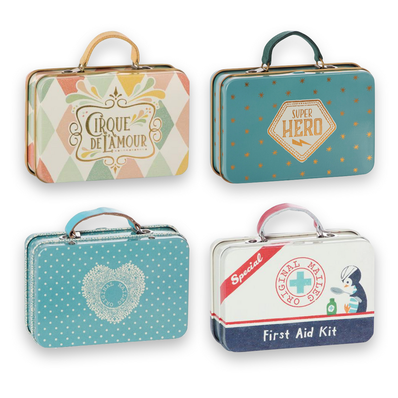 Maileg Mini Tin Suitcases