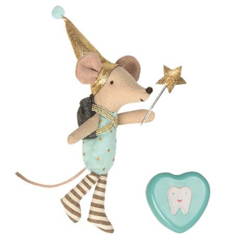 Maileg Tooth Fairy Mouse Set with Tooth Tin -Big Brother