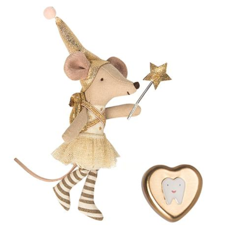 Maileg Tooth Fairy Mouse Set with Tooth Tin -Big Sister