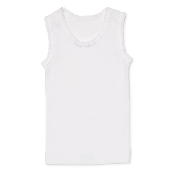 Soft Cotton Baby Singlet - Pure White