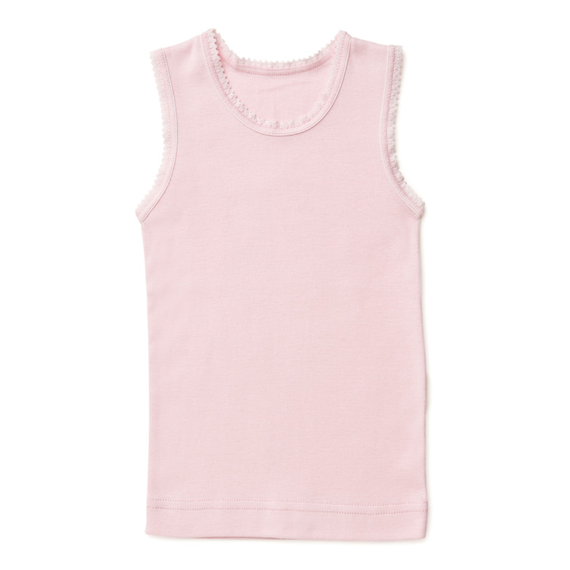 Soft Cotton Baby Singlet - Soft Pink