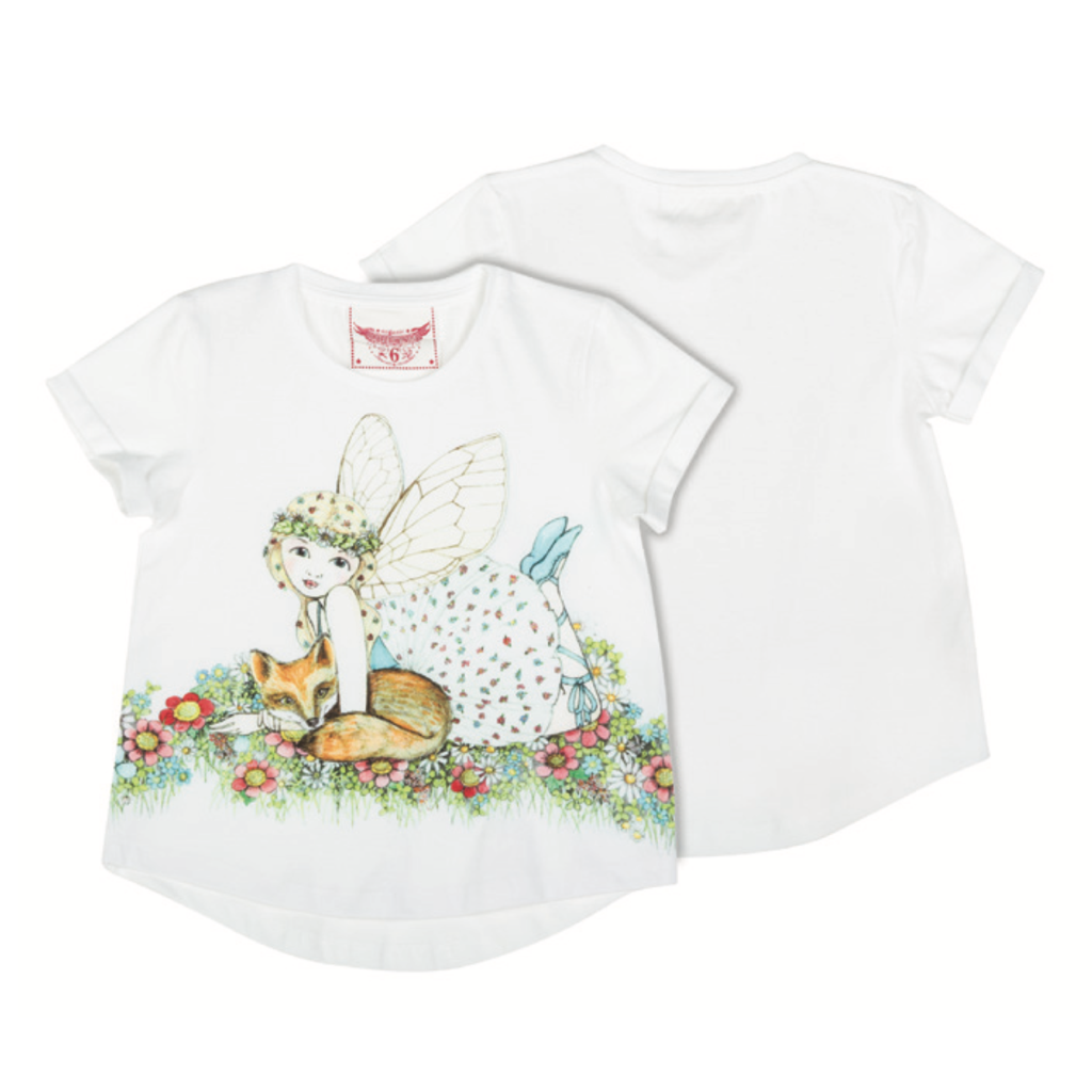 Paper Wings Tee - Fox Fairy Organic Cotton SIZE 3 LAST ONE LEFT