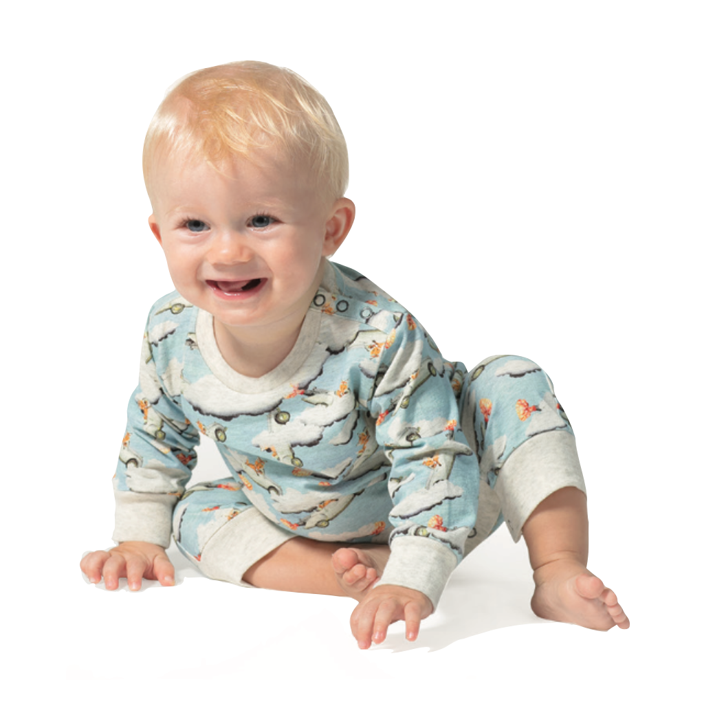Little Wings by Paper Wings Organic- Fox Sonic Romper