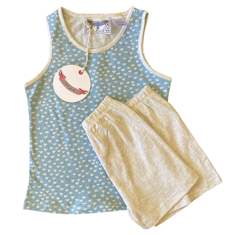 """Galaxy"""" Paper Wings Organic Singlet PJ Set- Boys 4/5 Yrs"