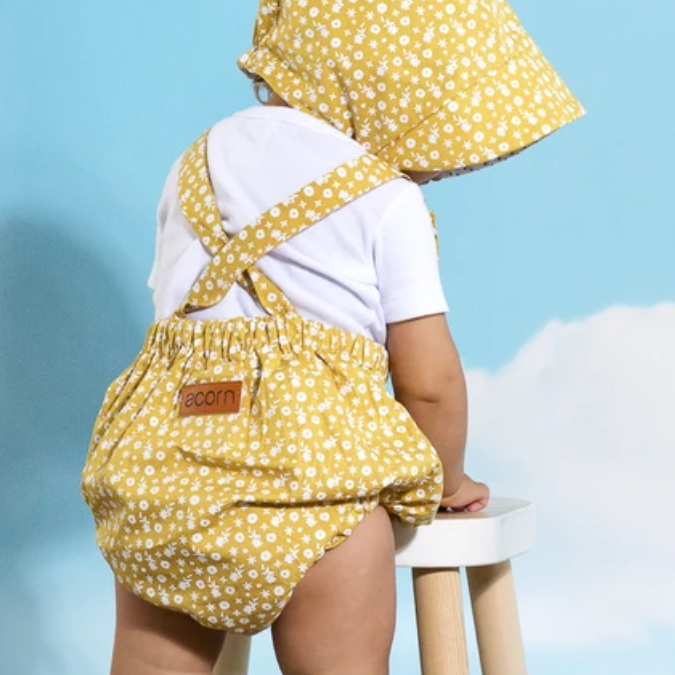 Acorn summer,baby,romper,golden,days,flora