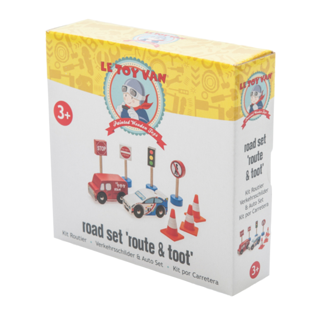 Route And Toot - 9 Piece Road Set