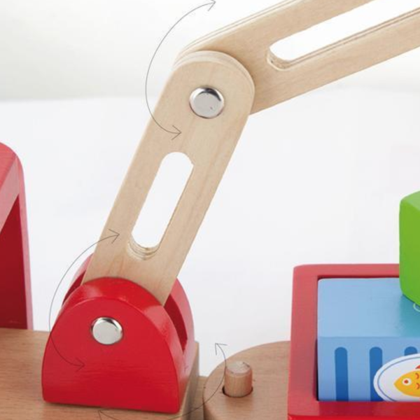 Wooden Crane Truck Play Set