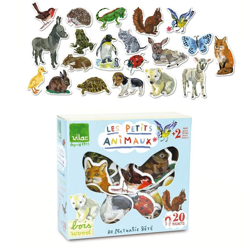 Vilac 20 Piece Animal Magnet Set by Nathalie Lete
