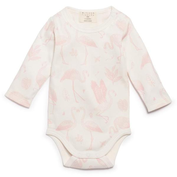 Cotton Bodysuit - Flamingo