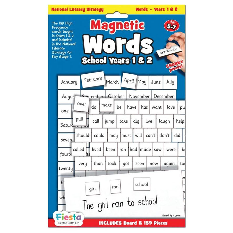 Magnetic Words Years- Ages 5-7