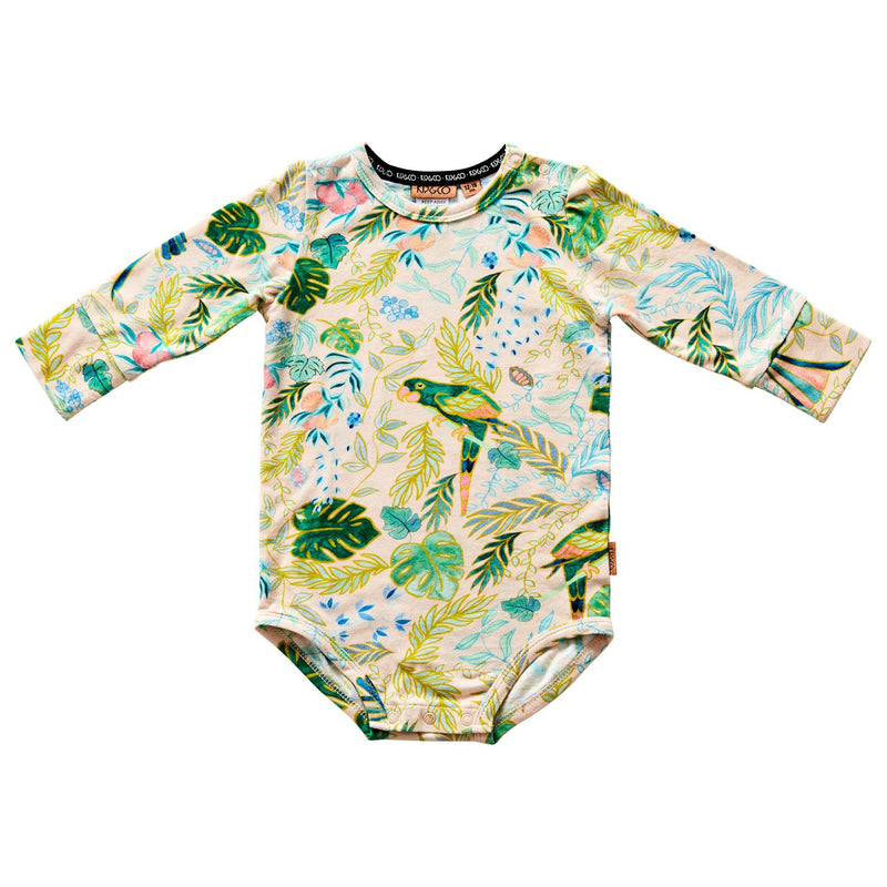 Birds of Paradise Long Sleeve Organic Bodysuit