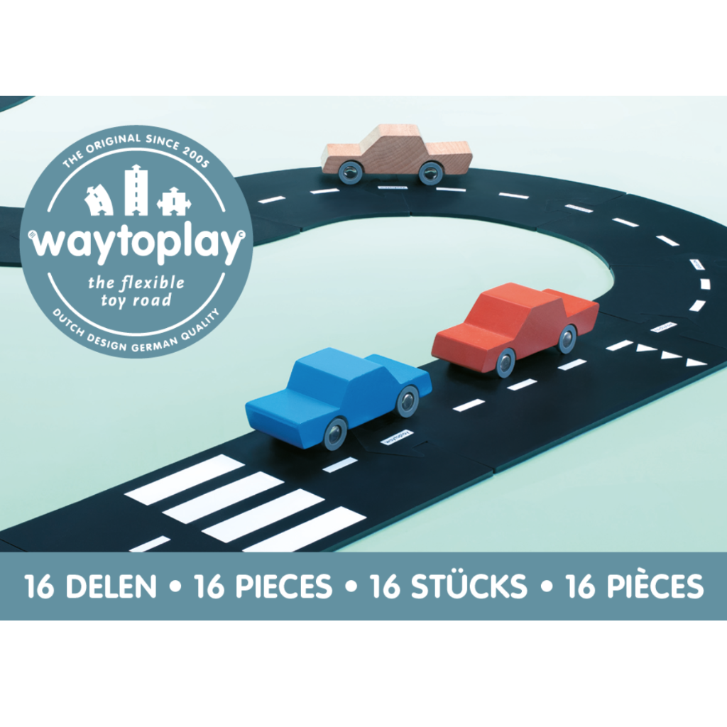 Expressway 16 Piece Set - Flexible Toy Road