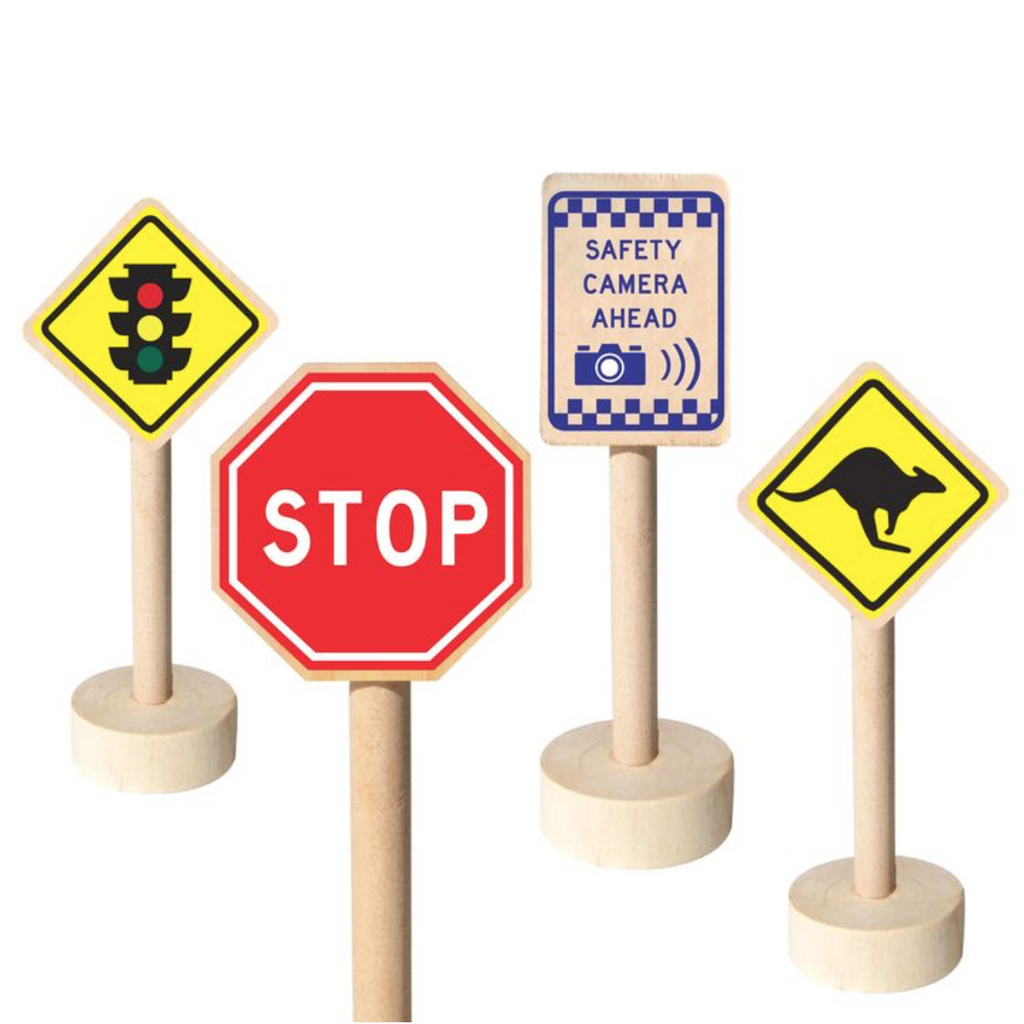 Wooden Australian Traffic Road Signs (set of 20)