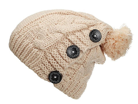 Spikerking Womens Winter Knitting Wool Warm Hat Daily Slouchy Beanie Skull Cap