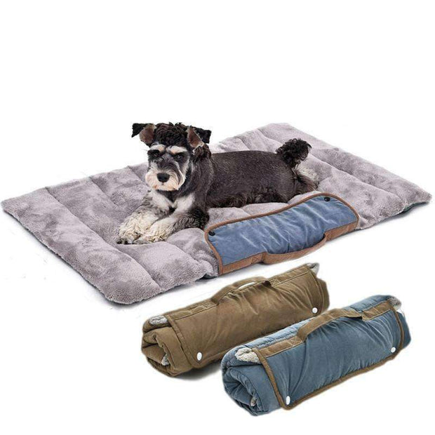 Compact Roll-Out Travel Dog Bed Bed - iplayfetch.com
