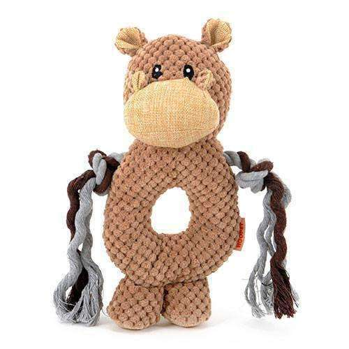 Donut Animal Kingdom Knot Squeaker Dog Toy Toy - iplayfetch.com
