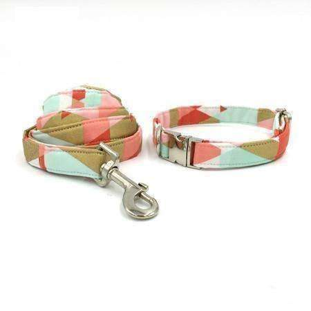 Pastel Pink Dog Bow Tie Collar Leash Collars - iplayfetch.com