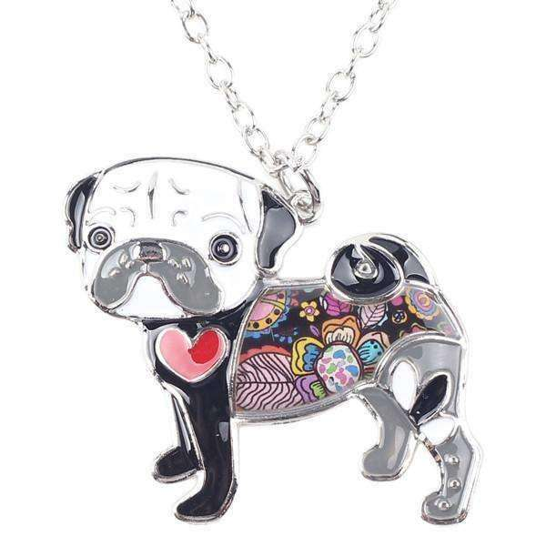 Pug Rainbow Series Pendant Necklace Jewellery - iplayfetch.com
