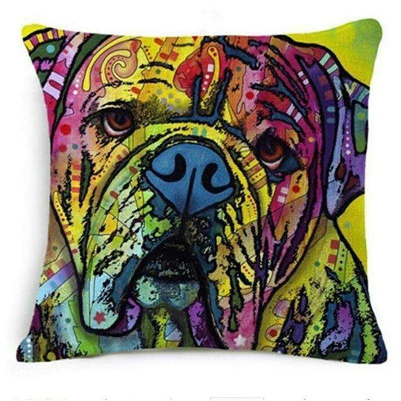 Artistic Dog Lover Pillow Cover (45 x 45 cm) Pillow - iplayfetch.com