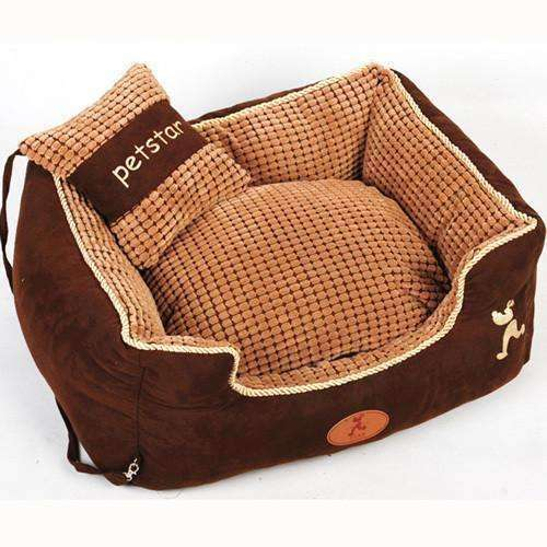 Soft Warm Luxurious Petstar Pillow Dog Bed (Small Breeds) Bed - iplayfetch.com