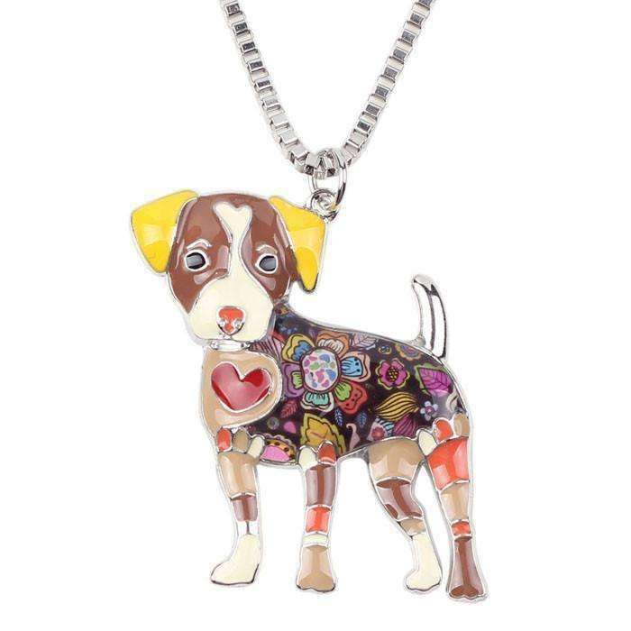 Jack Russell Rainbow Series Pendant Necklace Jewellery - iplayfetch.com