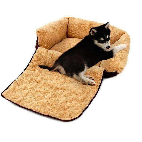 Plush Transforming Sofa Bed (Small Breeds) Bed - iplayfetch.com