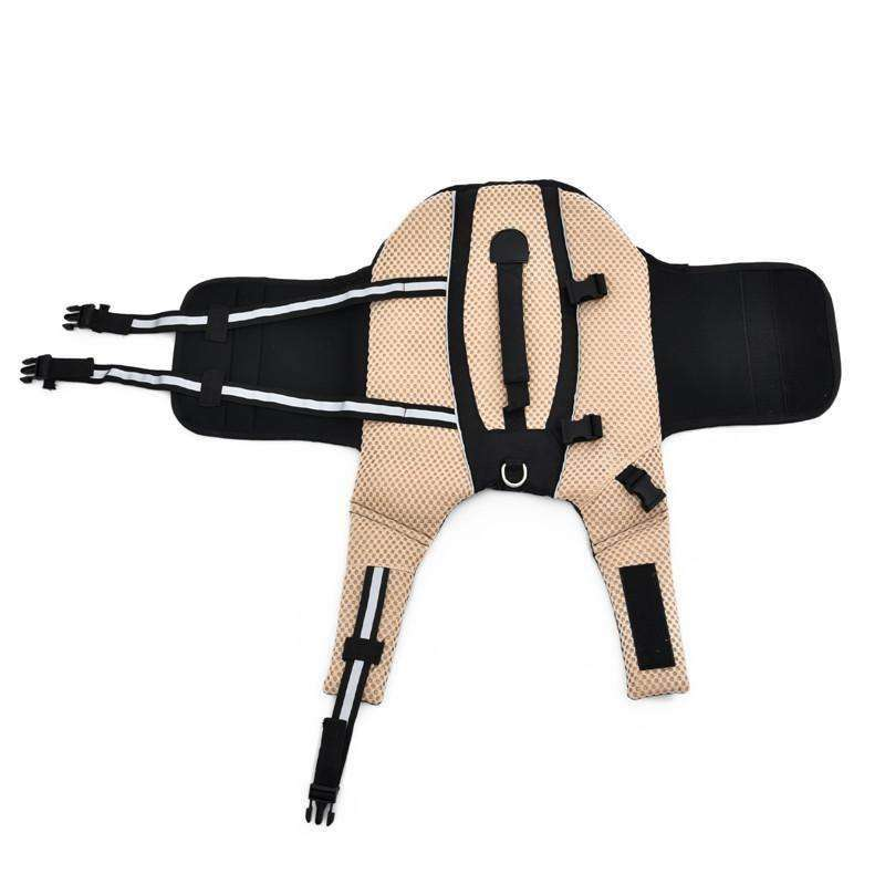 Swimming Dog Floatie Life Jacket (Beige / Brown) Life Jacket - iplayfetch.com