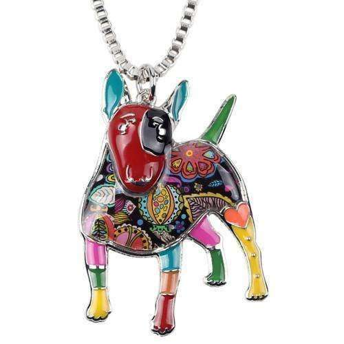 Bull Terrier Rainbow Series Pendant Necklace Jewellery - iplayfetch.com