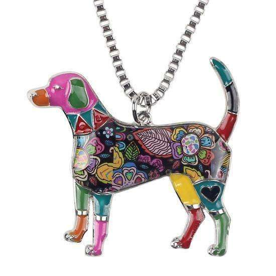 Labrador Rainbow Series Pendant Necklace Jewellery - iplayfetch.com