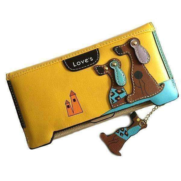Leather Fashion Designer Dog-Themed Wallet (Squared) Purse - iplayfetch.com