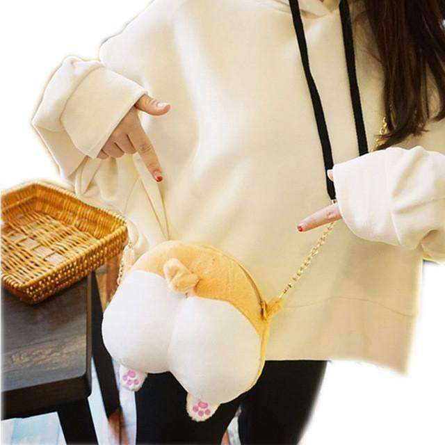 Corgi Nation Butt Shoulder Bag / Coin Purse Bag - iplayfetch.com