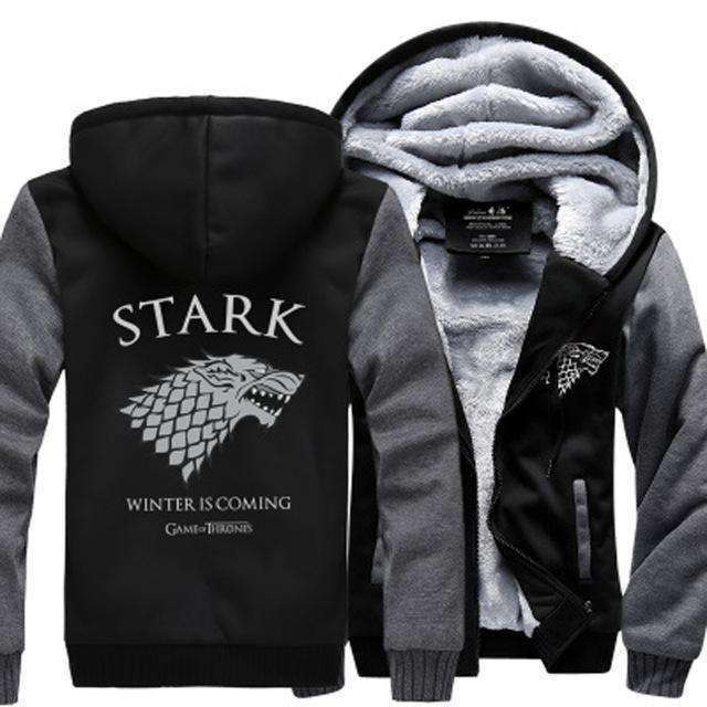 """Winter Is Coming"" Warm Fleece Hoodie of House Stark (3 colour styles) Hoodies - iplayfetch.com"