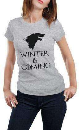 """Winter Is Coming"" Women's T-Shirt of House Stark (white / grey) Shirts - iplayfetch.com"