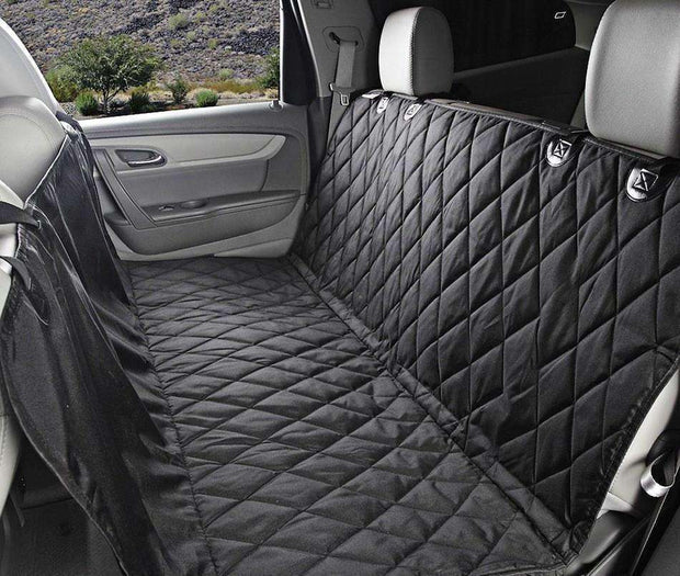 Premium Car Seat Dog Cover (Black/Beige) Seat cover - iplayfetch.com